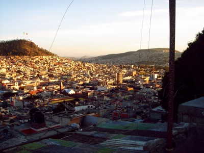 Overlooking downtown Pachuca